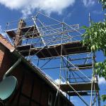 Sonderkonstruktion – Auskragung mit Layher Allround - Kautscha Gerüstbau, Auetal / Hannover